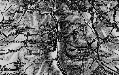 Old map of Astwood Bank in 1898