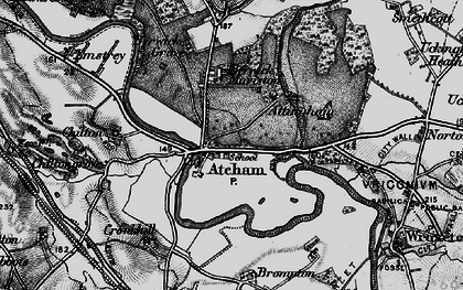 Old map of Atcham in 1899