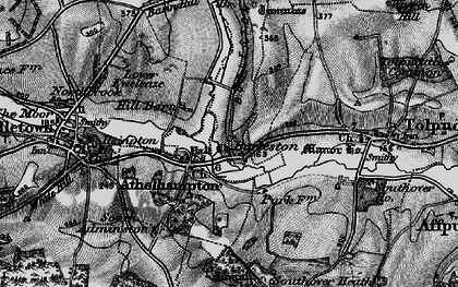 Old map of Athelhampton in 1898