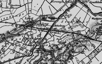 Old map of Athelney in 1898