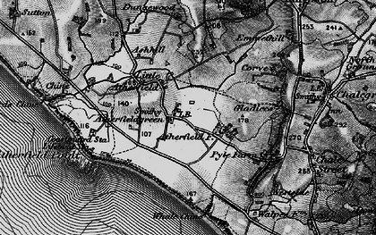 Old map of Atherfield Point in 1895