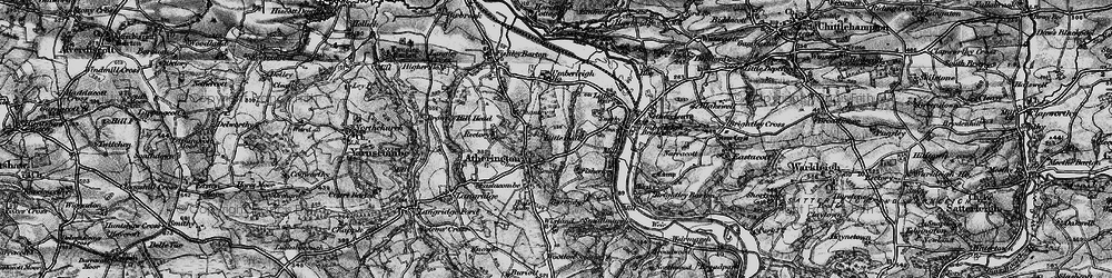 Old map of Atherington in 1898