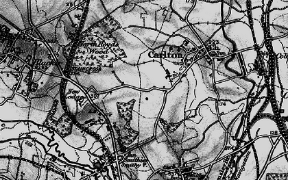 Old map of Athersley North in 1896