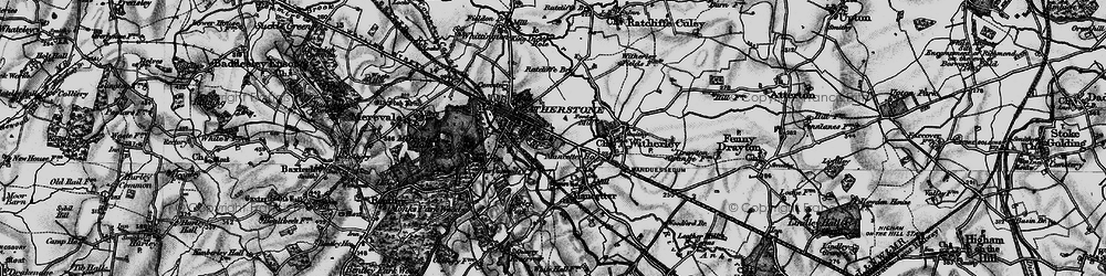 Old map of Atherstone in 1899