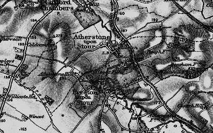 Old map of Atherstone on Stour in 1898