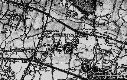 Old map of Atherton in 1896