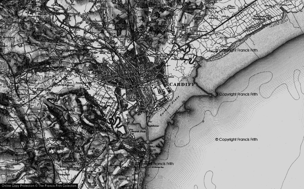 Old Map of Atlantic Wharf, 1898 in 1898