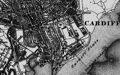 Old map of Atlantic Wharf in 1898