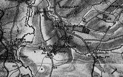 Old map of Atterbury in 1896
