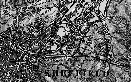 Old map of Attercliffe in 1896