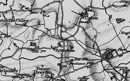 Old map of Atterton in 1899