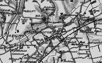 Old map of Westcar in 1898