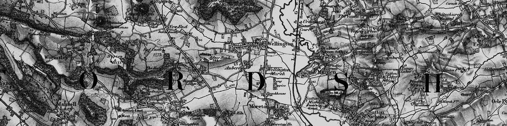 Old map of Adzor Bank in 1898