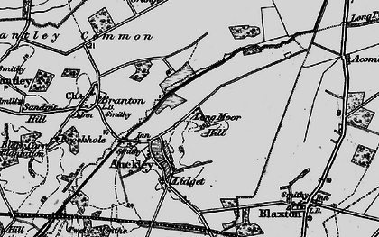 Old map of Auckley Common in 1895