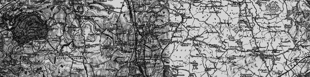 Old map of Audlem in 1897