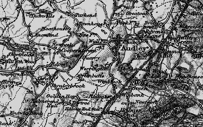 Old map of Audley in 1897