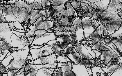 Old map of Audley End in 1895