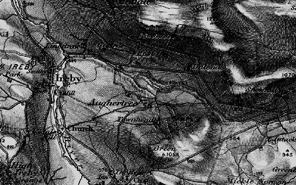 Old map of Aughertree Fell in 1897