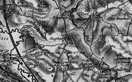 Old map of Aughton in 1896