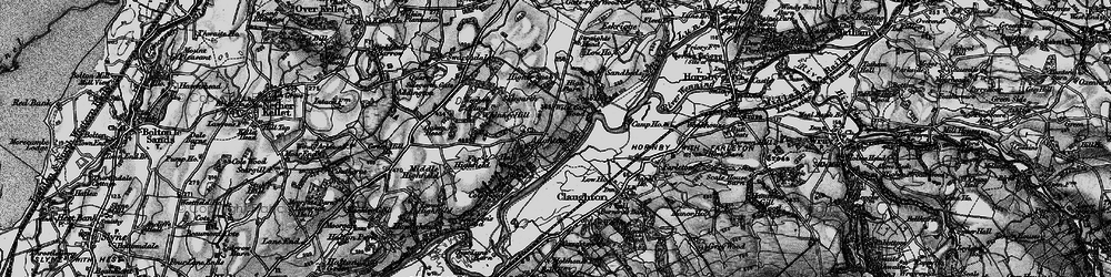 Old map of Whinney Hill in 1898