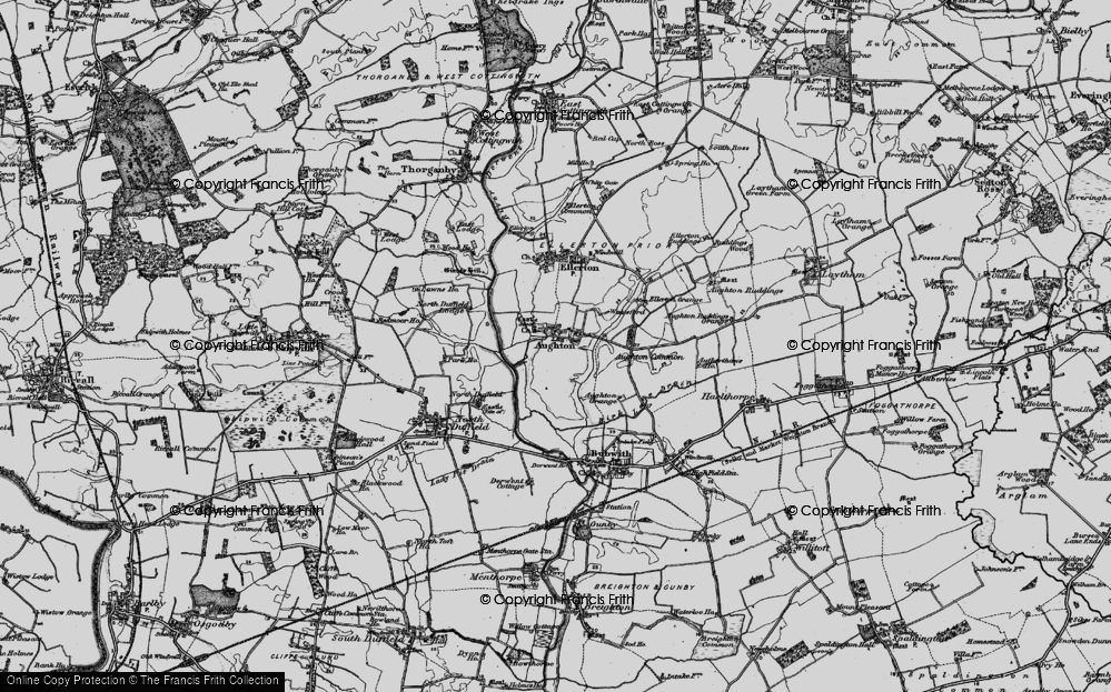 Old Map of Aughton, 1898 in 1898