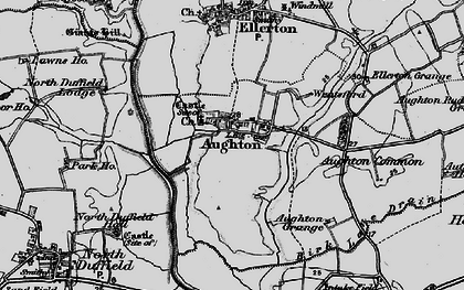 Old map of Aughton in 1898