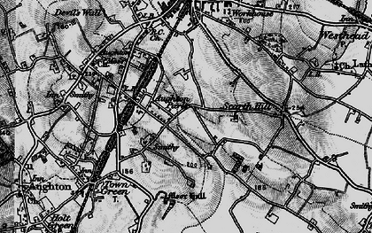 Old map of Aughton Park in 1896