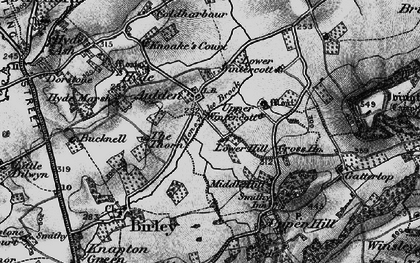 Old map of Aulden in 1899