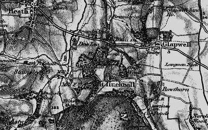 Old map of Ault Hucknall in 1896