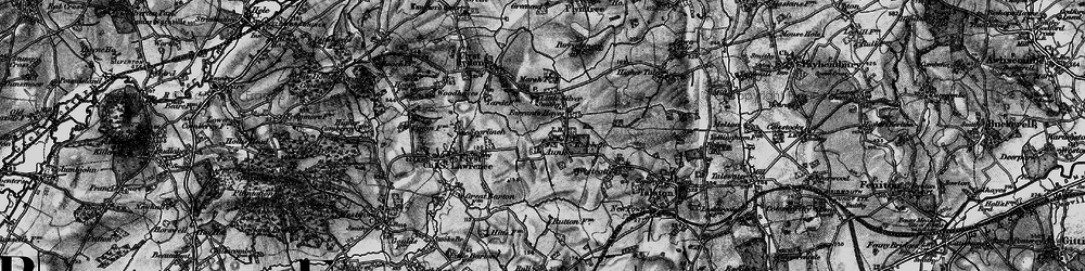 Old map of Aunk in 1898