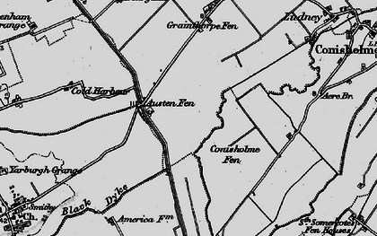Old map of Austen Fen in 1899