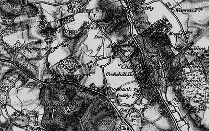 Old map of Austenwood in 1896
