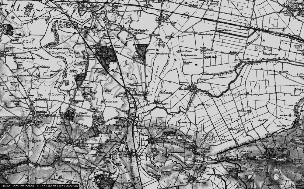 Old Map of Historic Map covering Austerfield Drain in 1895