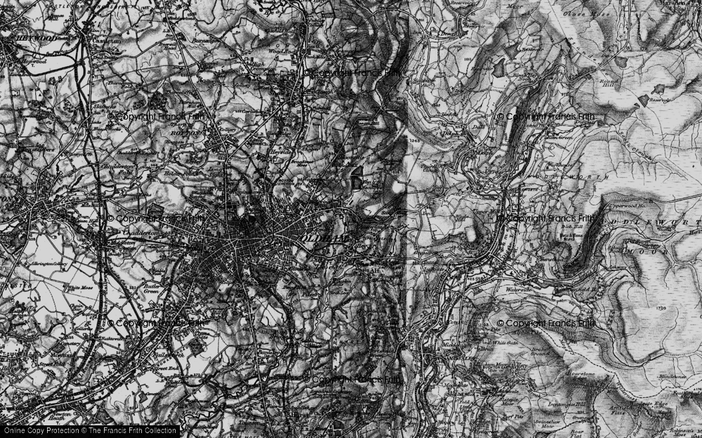 Old Map of Austerlands, 1896 in 1896