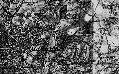 Old map of Austerlands in 1896