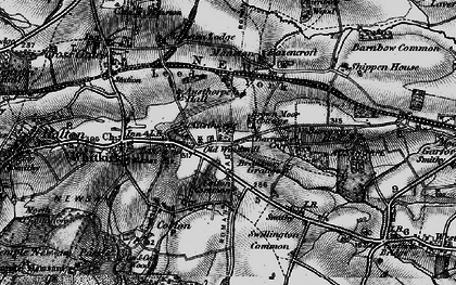 Old map of Austhorpe in 1896