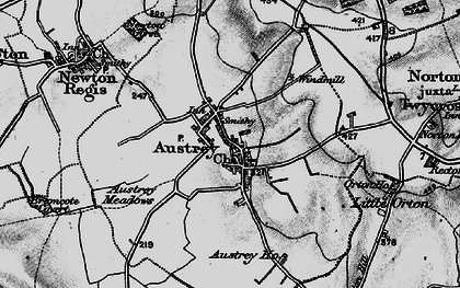 Old map of Austrey in 1895