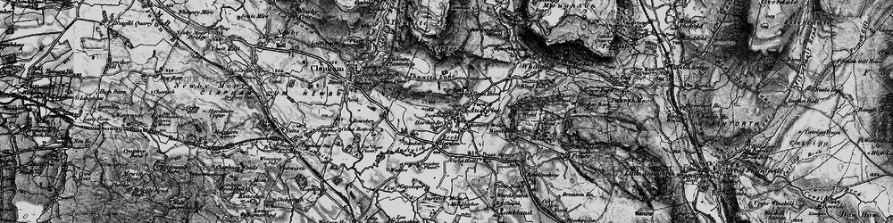 Old map of Austwick in 1898