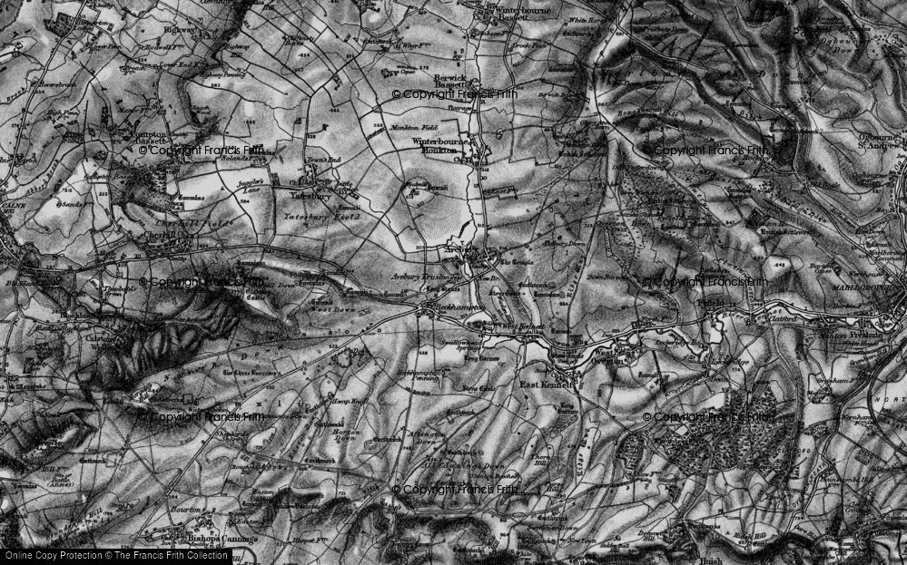 Old Map of Avebury Trusloe, 1898 in 1898