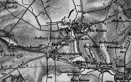 Old map of Avebury Trusloe in 1898