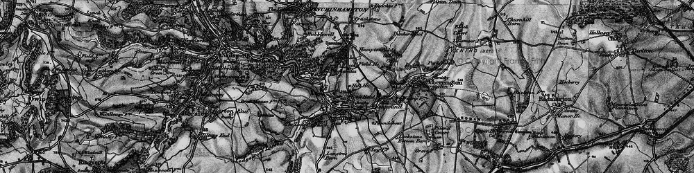 Old map of Avening in 1897
