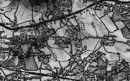 Old map of Avery Hill in 1896