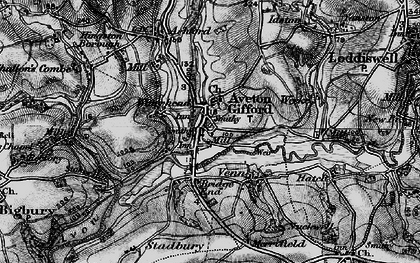 Old map of Aveton Gifford in 1897