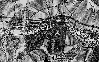 Old map of Avington Park in 1895