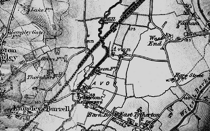 Old map of Avon in 1898