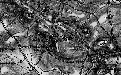 Old map of Avon Dassett in 1896