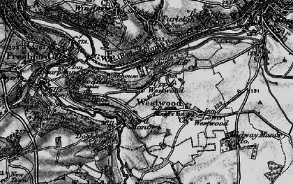 Old map of Avoncliff in 1898