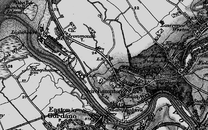 Old map of Avonmouth in 1898