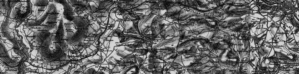 Old map of Wonton in 1898