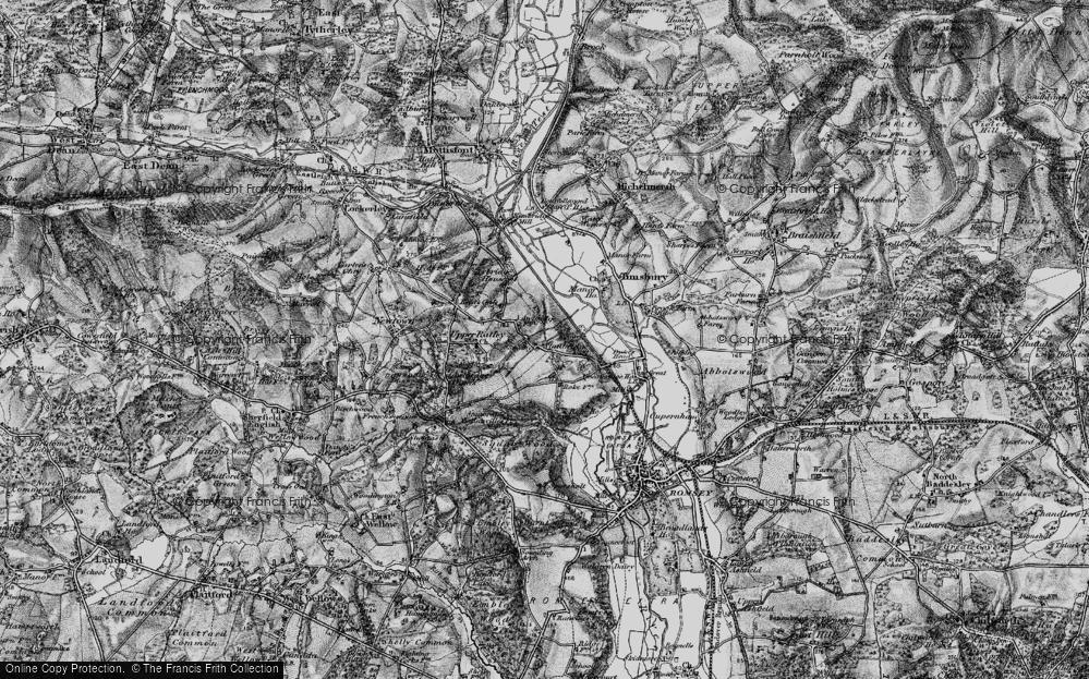 Old Map of Awbridge, 1895 in 1895